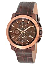 Kenneth Cole Brown Dial Men's Leather Watch IKC1884