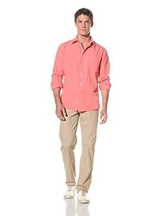 Benson Men's Long Sleeve Woven Shirt (Berry)