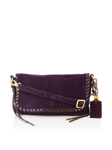Linea Pelle Women's Willow Native Cross-Body Clutch (Plum)