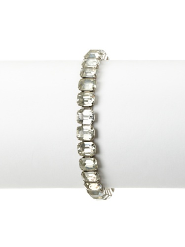 Lulu Frost 1920's Art Deco Single Strand Bracelet, Silver