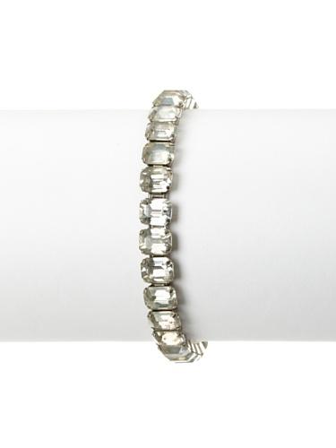 Lulu Frost 1920's Art Deco Single Strand Bracelet, Silver