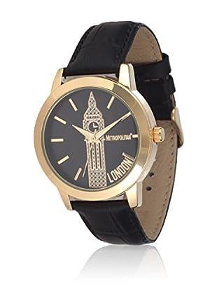 Metropolitan Reloj de cuarzo Venice Negro 36.5 mm