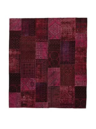 Design Community By Loomier Teppich Revive Vintage Patch weinrot 265 x 308 cm