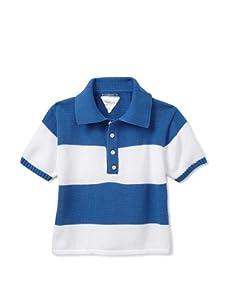 kicokids Boy's Striped Knit Polo (Pascal)