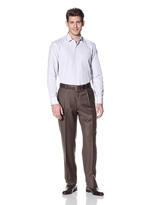 Hart Schaffner Marx Men's Checked Single Reverse Pleat Trouser (Brown)