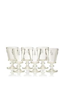 La Rochère Set of 6 Bee Décor Wine Goblets
