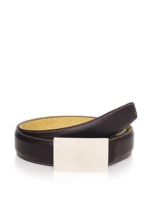 Joseph Abboud Men's Plaque Belt (Black)