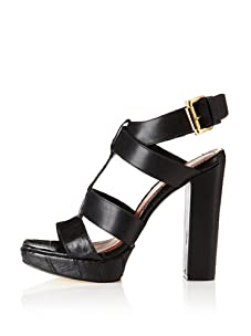Elizabeth and James Women's Sam Platform Sandal (Black Croc Multi)