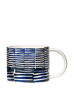Kate Spade Saturday Saturday Morning Stamped Stripe Mug