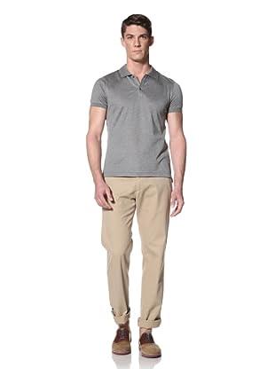 Simon Spurr Men's Short Sleeve Polo With Taping (Grey)