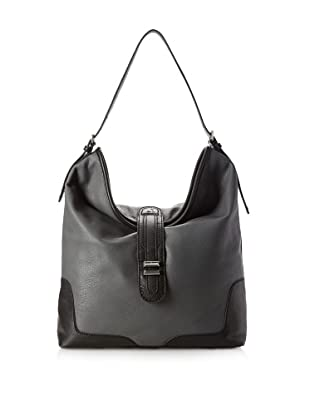 Charlotte Ronson Women's Classic Shoulder Bag, Grey