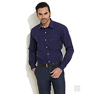 Thomas Scott Medium Blue Solid And Smart Formal Shirt
