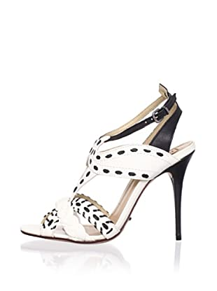 Schutz Women's Laced Stiletto Sandal (Lirio/Preto)