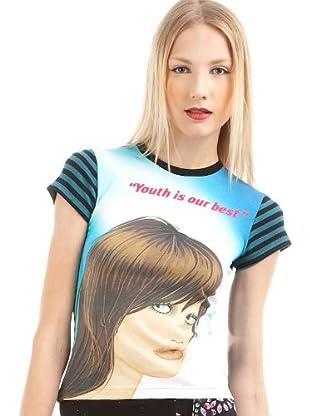 Custo Camiseta Small Reflect (Negro / Petróleo)