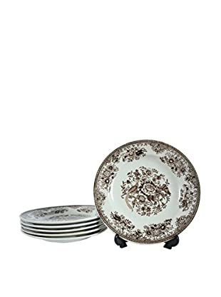 Set of 6 Rostrand Pheasant Dessert Plates, Brown/Cream