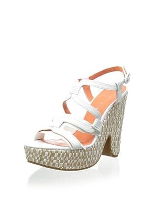 Via Spiga Women's V-Cai Wedge Sandal (White/Cream)
