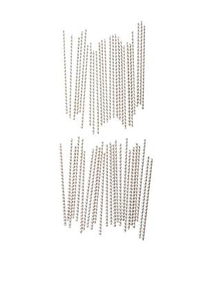ACME Party Box Set of 48 Chevron Straws, Grey