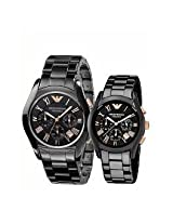 Emporio Armani AR 1410 & AR 1401 Couples Wrist Watch