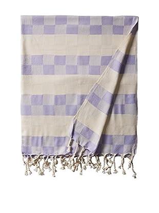 Nomadic Thread Handwoven Towel Cube, Natural/Lavender