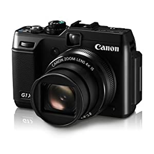 Canon PowerShot G1X 14.3MP Point and Shoot Camera (Black) with 4x Optical Zoom, Memory Card and Camera Case