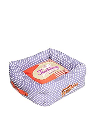 Touchdog Polka-Striped Polo Easy Wash Squared Dog Bed