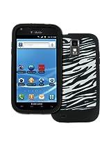 EMPIRE T-Mobile Samsung Galaxy S II T989 Black and White Zebra Stripes Design Silicone Skin Case Cover [EMPIRE Packaging]