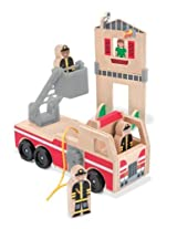 Melissa And Doug Whittle World Fire Rescue Play Set
