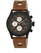 1634Nl01 Brown/Black Chronograph Watches