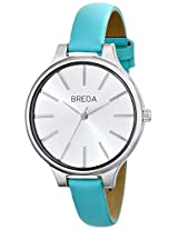 Breda Women's 1650D Watch with Blue Genuine Leather Band