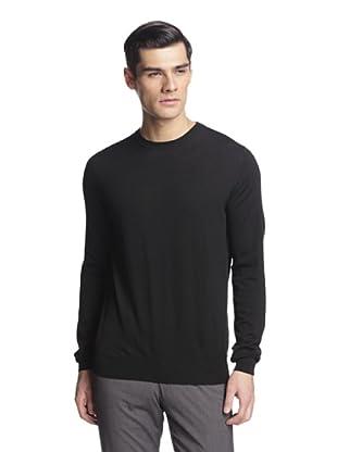 Salvatore Ferragamo Men's Crew Neck Sweater (Black)