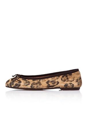 Bisue Bailarinas Serraje Leopardo (Marrón)