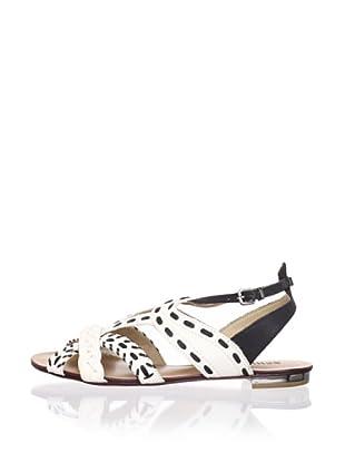 Schutz Women's Flat Sandal (Lirio/Preto)