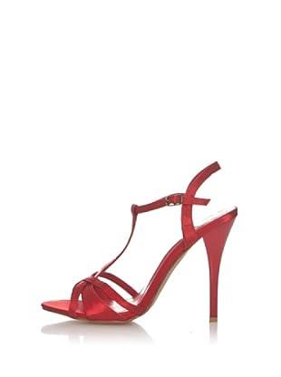 Chalada Sandalias Tacón Tiras (Rojo)