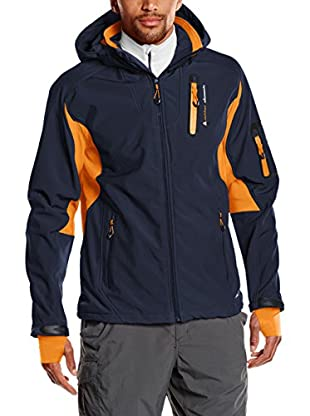 Peak Mountain Giacca Softshell Cavibyks Blu Scuro/Arancione 2XL