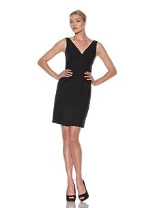 Elie Tahari Women's Zoe Wool V-Neck Dress (Charcoal)