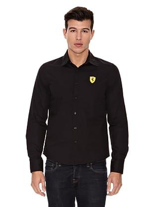 Ferrari Camiseta Long Sleeve (Negro)