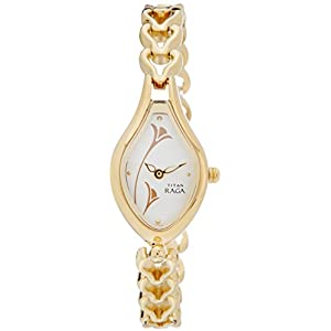 Titan Raga Analog Off-White Dial Women's Watch - NE2457YM01