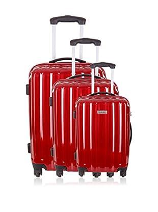 Travel ONE Set de 3 trolleys rígidos Altamura Burdeos