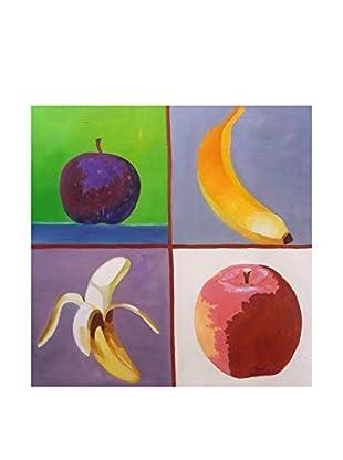 Legendarte Pintura al Óleo sobre Linezo Colorati Frutti Da Gustare 60X60