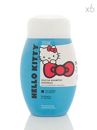 Hello Kitty Set 6 Pezzi Doccia Shampoo Doposole Prolungatore di Abbronzatura 250 ml cad.