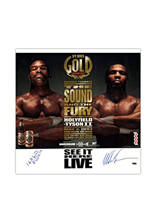Steiner Sports Memorabilia Evander Holyfield & Mike Tyson Signed Fight Rematch Poster
