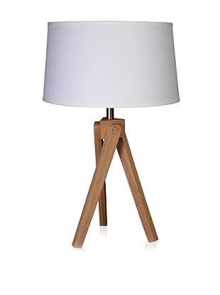 State Street Lighting Tripod Table Lamp, Alder Wood