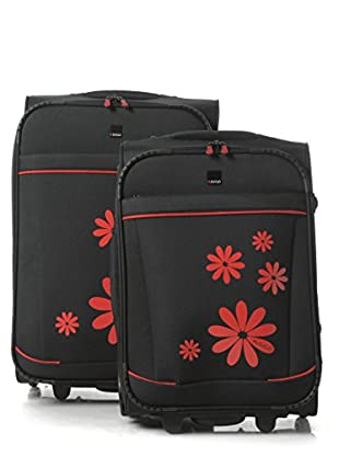 H.Due.O Set Trolley Hippy Flowers Rosso