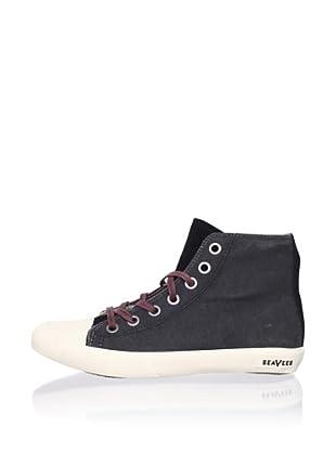SeaVees Women's Army Issue High-Top Sneaker (Black)