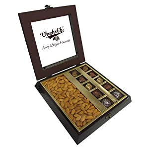 Tempting Chocolate Box with Almonds - Chocholik Premium Gifts