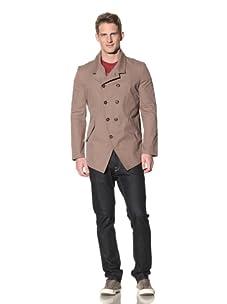 Eubiq Men's Double Breasted Cutaway Jacket (Nut)