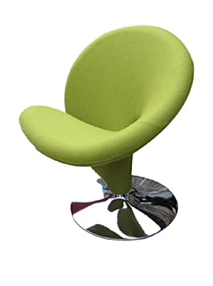 International Design USA Ziggy Wool Swivel Leisure Chair, Green