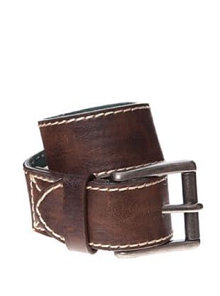 Springfield Cinturón Casual Pespuntes Contrastados (marrón oscuro)
