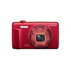 Olympus VR-370 16MP Digital Camera with 3-Inch LCD (Red) (Old Model)