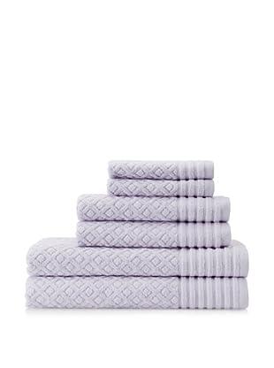 Espalma Diamonds 6-Piece Towel Set, Lavender